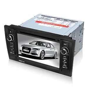 koolertron-autoradio DVD pour AUDI A6 2001 2002 DVD GPS système de navigation avec 7pouces écran tactile