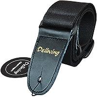 Dellwing - Correa premium para guitarra eléctrica, bajo, guitarra acústica, guitarra clásica, guitarra de concierto - En color negro