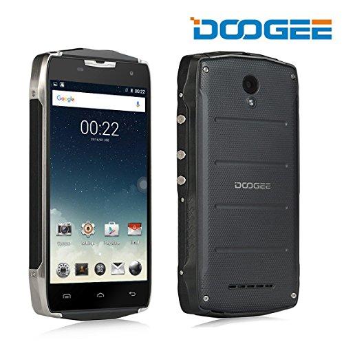 Telefono cellulare robusto, Doogee T5S IP67 impermeabile Smartphone - GSM + WCDMA FDD + Android 6.0 - Duro esterno mobile con 4500mAh batteria - 2 GB di RAM + 16GB ROM - 5MP + 8MP Telecamere