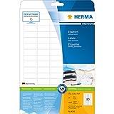 Herma 4336 Universal-Etiketten (35,6 x 16,9 mm auf DIN A4 Premium Papier matt) 2.000 Stück auf 25 Blatt, weiß, bedruckbar, selbstklebend