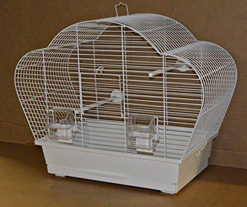 Vogelkäfig Beta Weiß, Trennkäfig , Urlaubskäfig , für kleine Vögel