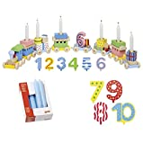 Goki Geburtstagszug Zahlen 1-10 10er Set Kerzen blau - Die LuLuGoS