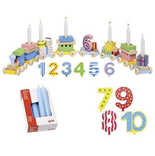 Zahlen 1-10 10er Set Kerzen blau - Die LuLuGoS ()