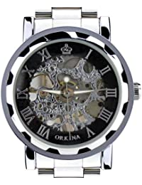 ORKINA KC023-S-Silver/Black - Reloj para hombres