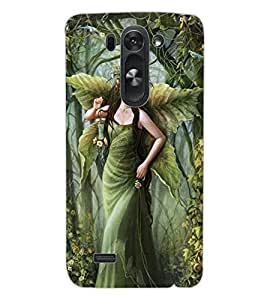 ColourCraft Graceful Angel Design Back Case Cover for LG D722K