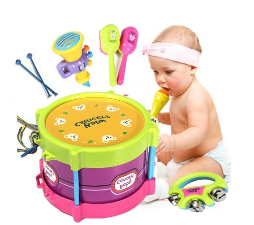 Baby Two-side Drum Musical Instruments Kids Drum Set Children Toy (Toy Musical Instrument Set)