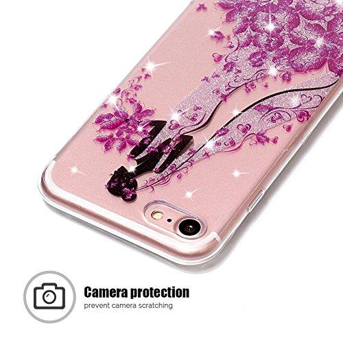 Coque iPhone 7, SpiritSun Clair Transparente Etui Coque en Silicone pour iPhone 7 (4.7 pouces) Flexible TPU Housse Etui Souple Silicone Etui Coque de Protection Mince Légère Etui Téléphone Doux Housse Fille