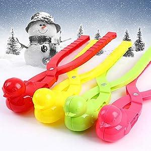 CoURTerzsl Schneeball-Clip, Ente Form Schneeballmacher Winter Schnee Scoop Clip Sand Tonformwerkzeug Kinder Spielzeug
