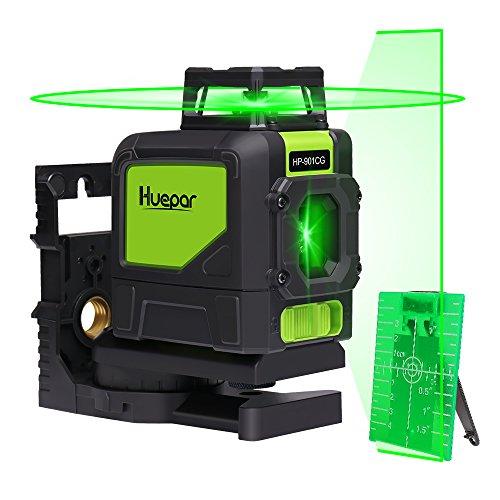 Huepar 901CG Laser de Niveau Vert - Laser mesure portée 45m, Auto Couverture de 360 degrés, Ligne...