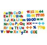 mixed24 Magnet Buchstaben Zahlen Symbole ABC Alphabet Kinder Magnettafel Lernspielzeug