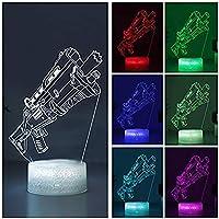 Ocamo LED de Fortnite 3D 7 Colores Que Cambian de Luz Nocturna con Control Táctil Lámpara