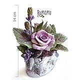 Flores de Porcelana Rusa Miniatura Rosas lilas Home Decor regalo - HAND MADE