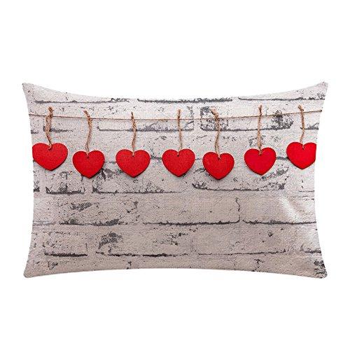 Sencillo Vida Fundas De Cojin Almohada Caso de Lino Valentine's Day Pillow...
