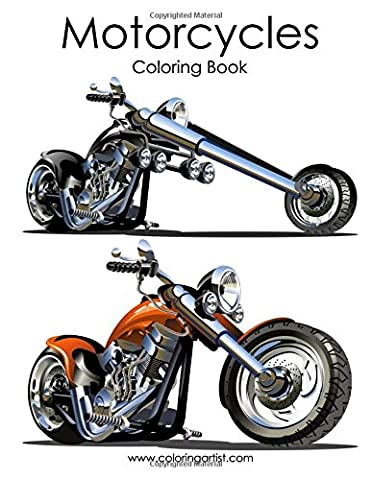 Motorcycle Coloring Book