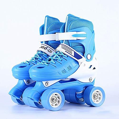 Skate Zweireihige Vierrädrige Rollschuhe S (30-33) Himmelblau