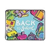 KAOROU Back School Big Doodles Set Portátil y Plegable Manta de Mano 60x78 Pulgadas Práctico tapete para Acampar Picnic Playa Interior Viaje al Aire Libre