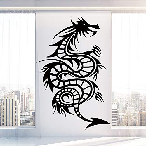 Spiral Dragon Wandaufkleber Selbstklebendes Vinyl Wasserdichte Wandkunst Aufkleber Kunst Wohnkultur Wandaufkleber Wasserdichte Tapete-110x75cm