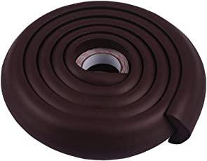 Okayji Baby Safety Table Edge Corner Cushion Guard Strip Bumper Protector, Coffee