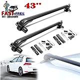 sin rieles con Cerradura y antirrobo 2 Unidades Barras transversales de Aluminio para portaequipajes de Ford Fiesta 2011-16 SiKy