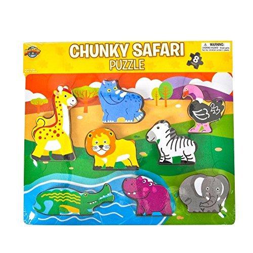 Chunky Safari Theme Puzzle, 8-Piece by Rhode Island Novelty