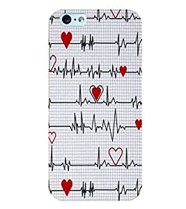 Citydreamz Heartbeat/Red Heart/Love/Valentine Hard Polycarbonate Designer Back Case Cover For Apple Iphone 6 Plus/6S Plus