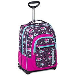 0843e89173 Trolley Fit Seven , LOVE LETTER , Viola Rosa , 35 Lt , 2in1 Zaino con ...