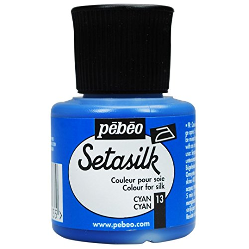 Pebeo Silk Paint - 45 ml Bottle - Setasilk Cyan (13)