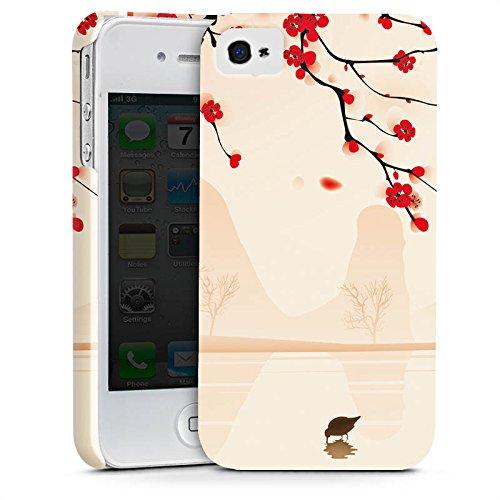 Apple iPhone X Silikon Hülle Case Schutzhülle Baumzweig Blätter Blüten Premium Case glänzend