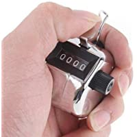 COSTARS Tally Counter Hand Held clicker 4Digit Chrome Palm Golf People Counting Club