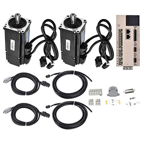 Elektromotoren, Servoantriebsmotor Kit 1pc Driver + 2pcs Servomotor 400W 1.27NM AC220V 3000RPM