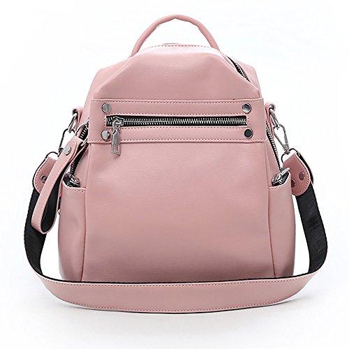 FENG Mode Weiblichen Rucksack, 20 * 11 * 28 cm, Polyurethan, Polyester, Hardware-Zubehör, Tragbar, Eine Schulter, Crossbody,Pink
