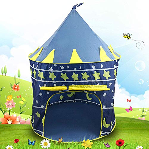 Zizer Kids Play Tent House Toys for Kids Pop Up Indoor/Outdoor Baby Princess Castle Tent Playhouse with Zipper Storage Case...