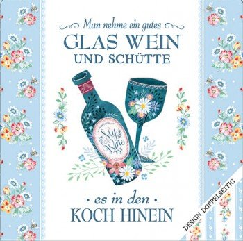 Cook Shop Geschirrtuch - Man nehme ein gutes Glas Wein..., 200 g