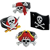 German Trendseller 12 x Piraten Ring ┃ Mitgebsel ┃ Piraten Party ┃ Seeräuber ┃ Kindergeburtstag ┃ 12 Stück