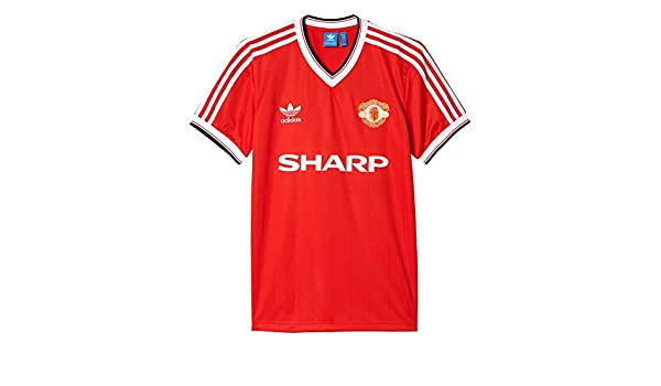 more photos 9bc96 7d3aa adidas T-Shirt - Mufc 84 Jersey red size: S (Small): Amazon ...