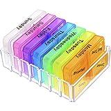 Pastillero Semanal Caja de Medicina Organizador de Pastillas con 28 Compartimentos