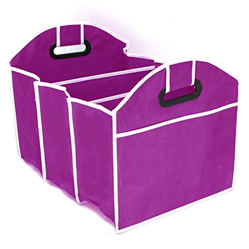 XWB Multipurpose 3 In 1 Car Boot Organiser Shopping collapsible Car SUV/Trunk Organizer - Car SUV Trunk Storage Box (Red)