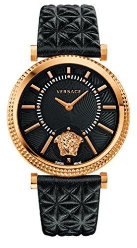 Versace Damen Chronograph Quarz Uhr mit Leder Armband VQG040015