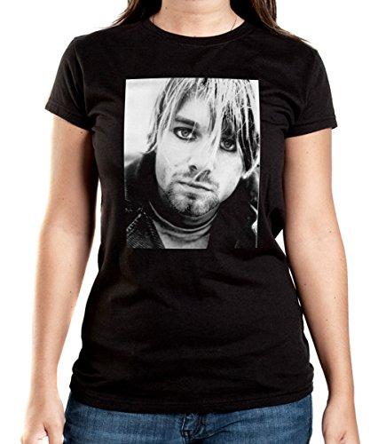 Certified Freak Kurt Smokey Eyes T-Shirt Girls Black S Selbstmord Tshirt
