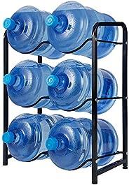 KAX 5-Gallon Water Bottle Holder 6 Trays Water Jug Rack 3-Tier Water Bottle Rack Reinforced Steel Rack for Wat