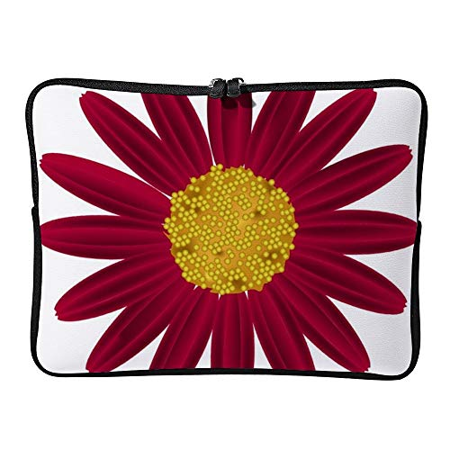DKISEE Red Daisy Flower Laptop Sleeve Case Bag Cover Compatible 15 inches Notebook MacBook Air MacBook Pro - Cover Hp-laptop-disney