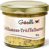 """Feinkost Trüffelbutter von """"Die Trüffelmanufaktur Göschle"""" mit 15 % frische Trüffel für Risotto, Püree und Pasta. 95 g"""