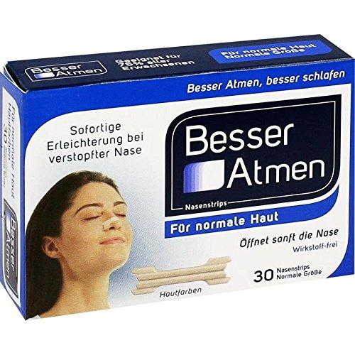 Besser Atmen Nasenstrips beige normale Größe, 30 St