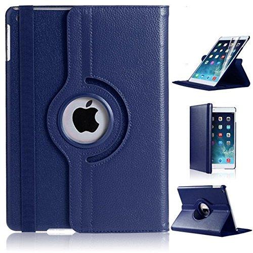 Apple iPad Mini 4Leder Smart Ständer 360Rotate Case Cover Beutel (dunkel blau)