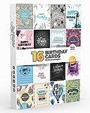 Joy MastersTM Biglietti d'Auguri di Buon Compleanno Assortiti con Busta Divertenti - Confezione da 16 Pezzi - Vol. 4