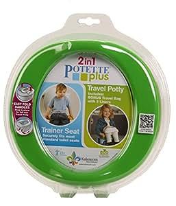 Yoomi 2730-G - Vasino e riduttore per toilette, da viaggio, colore: Verde
