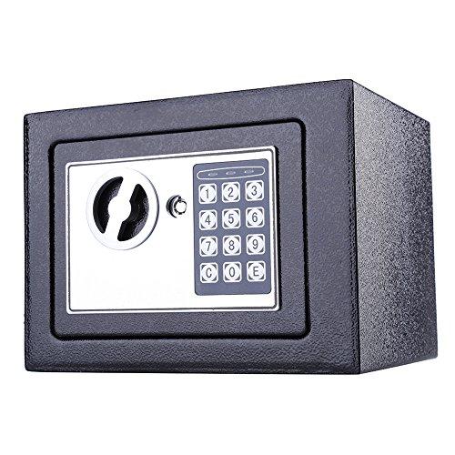 Elektronische Home Sicherheit Sicher,, 8,5l/16L Solider Stahl Digital Sicher, Lock Box, Geldkassette, Sicherheit Box für Büro oder Zuhause, schwarz