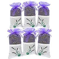 YUMSUM paquete fresco lavanda seca bolsas ropa bolsas de fragante aromática, 20gx6 Pack