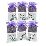 YUMSUM 6X Bustine di lavanda fresche secchi Abbigliamento Sacchi Sacchetti profumati sacchetto profumato Set regalo, 20gX6