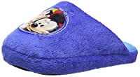 Disney Mickey, Boys' Open Back Slippers, Blue (Navy), 12 Child UK (29 EU)